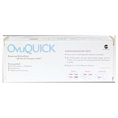 OVUQUICK Test 5 Stück - Rückseite