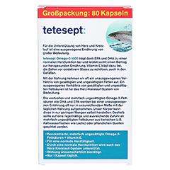 TETESEPT Omega-3 1000 Kapseln 80 Stück - Rückseite