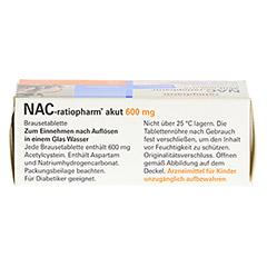 NAC-ratiopharm akut 600mg Hustenlöser 10 Stück - Oberseite