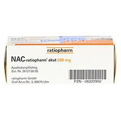 NAC-ratiopharm akut 600mg Hustenlöser 10 Stück - Unterseite