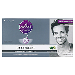 ELL-CRANELL Haarfülle+ für Männer Kombipackung 1 Packung - Vorderseite