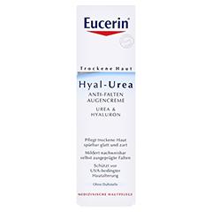 EUCERIN TH Hyal Urea Anti Falten Augencreme + gratis Urea Handcreme 30 ml 15 Milliliter - Vorderseite