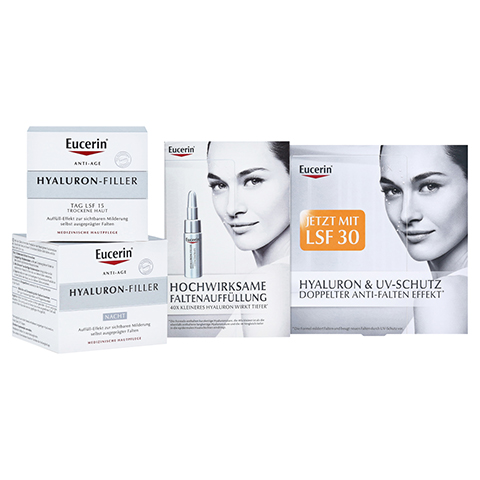 EUCERIN Anti-Age Hyaluron-Filler SET - Tag+Nacht+Serum + gratis Eucerin Hyaluron Anti-Age Set 50 + 50 + 7 Milliliter