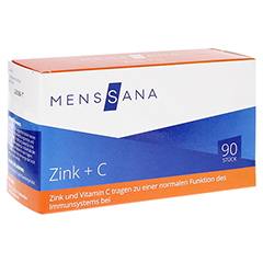 ZINK+C MensSana Lutschtabletten 90 Stück