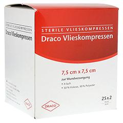 VLIESSTOFF-KOMPRESSEN 7,5x7,5 cm steril 4fach 25x2 Stück