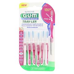 GUM TRAV-LER 1,4mm Kerze pink Interdental+6Kappen 6 Stück