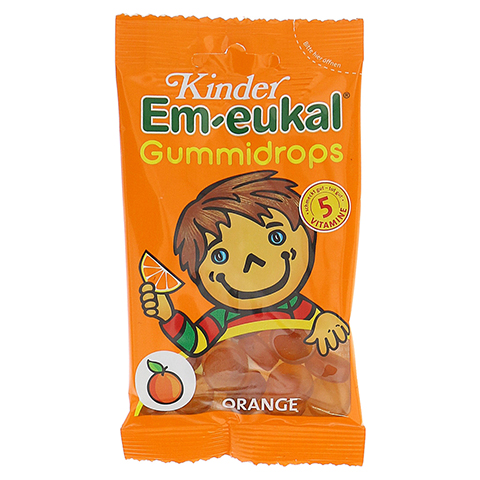 EM EUKAL Kinder Gummidrops Orange zuckerhaltig 75 Gramm