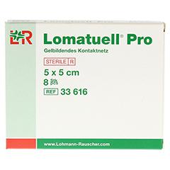LOMATUELL Pro 5x5 cm steril 8 Stück - Vorderseite