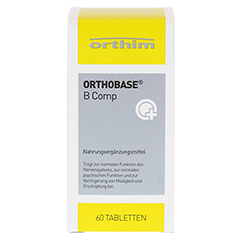 ORTHOBASE B comp Tabletten 60 Stück - Vorderseite