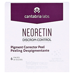 NEORETIN Lightening Peel Pads 6 Stück - Vorderseite