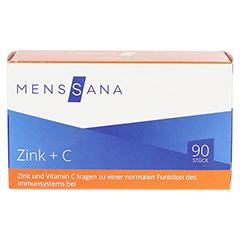 ZINK+C MensSana Lutschtabletten 90 Stück - Vorderseite