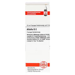 ALFALFA D 2 Dilution 20 Milliliter N1 - Vorderseite