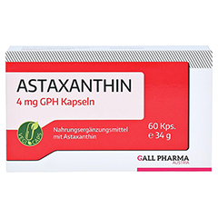 ASTAXANTHIN 4 mg GPH Kapseln 60 Stück - Vorderseite
