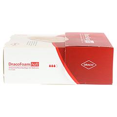 DRACOFOAM Haft Schaumstoff Wundaufl.5x5 cm 10 Stück - Linke Seite