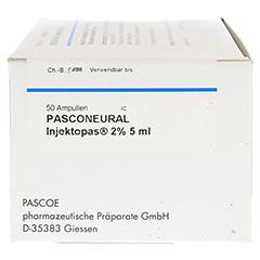 PASCONEURAL Injektopas 2% 5 ml Inj.-Lösung Amp. 50 Stück - Linke Seite