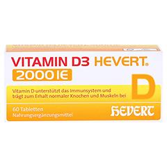 VITAMIN D3 Hevert 2.000 I.E. Tabletten 60 Stück - Vorderseite