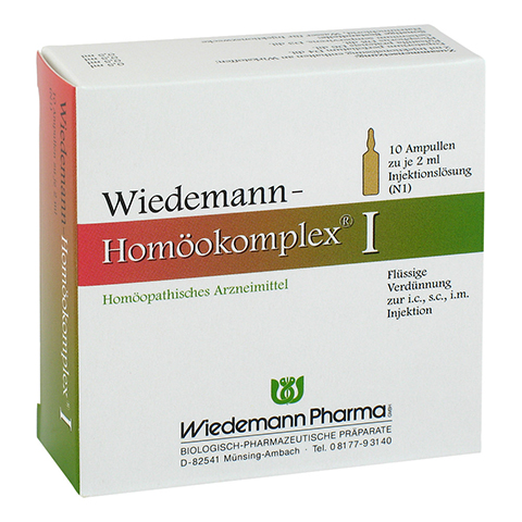 WIEDEMANN Homöokomplex I Ampullen 10x2 Milliliter N1