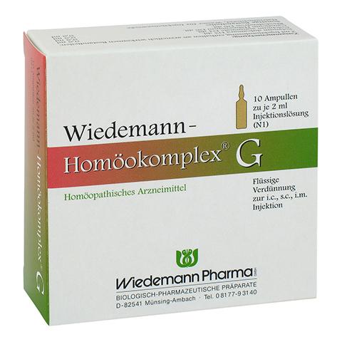 WIEDEMANN Homöokomplex G Ampullen 10x2 Milliliter N1