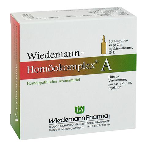 WIEDEMANN Homöokomplex A Ampullen 10x2 Milliliter N1