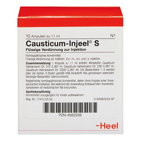 CAUSTICUM INJEEL S Ampullen 10 Stück N1