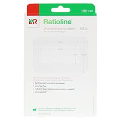 RATIOLINE Wundverband 10x15 cm steril 5 Stück - Rückseite