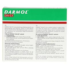 DARMOL DIA-EX Pulver z.Herstell.e.Susp.z.Einn. 10 Stück - Rückseite