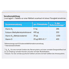 VITANEURAX B-Vitamine+D3 Filmtabletten 90 Stück - Rückseite