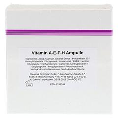 VITAMIN A.E.F.H Ampullen 10x3 Milliliter - Rückseite