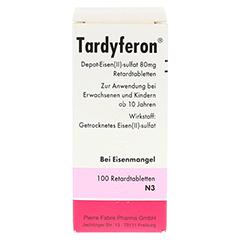 Tardyferon Depot-Eisen(II)-sulfat 80mg 100 Stück N3 - Rückseite