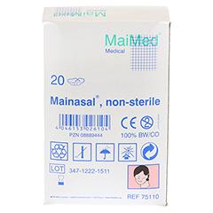 MAINASAL Nasenverband unsteril 20 Stück - Rückseite