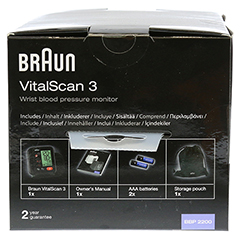 BRAUN BLUTDRUCKMESSGERÄT VitalScan3 Handg.BBP2200 1 Stück - Oberseite