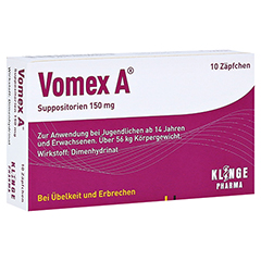 Vomex A 150mg 10 Stück N1