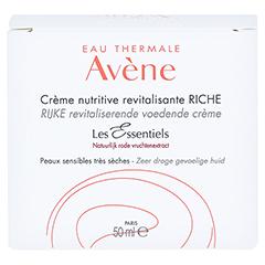 Avène Les Essentiels Revitalisierende Nutritive Creme reichhaltig 50 Milliliter - Rückseite