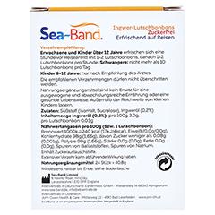 SEA-BAND Ingwer-Lutschbonbons zuckerfrei 24 Stück - Rückseite