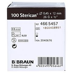 Sterican Einmal-Insulin-Kanüle 26gx1/2 0,45x12 mm 100 Stück - Rechte Seite