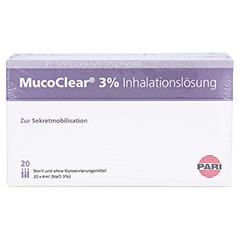 Mucoclear 3% NaCl Inhalationslösung 60x4 Milliliter - Vorderseite