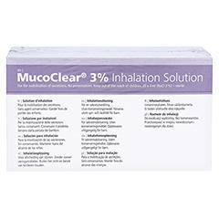 Mucoclear 3% NaCl Inhalationslösung 60x4 Milliliter - Rückseite