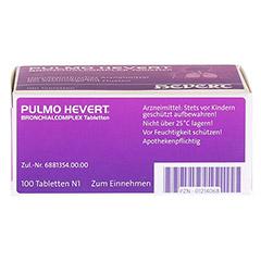 PULMO HEVERT Bronchialcomplex Tabletten 100 Stück N1 - Oberseite