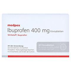 Ibuprofen medpex 400 mg Filmtabletten 20 Stück - Vorderseite