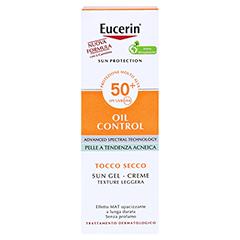 Eucerin Sun Gel-Creme Oil Control LSF 50+ + gratis Eucerin Strandtasche 50 Milliliter - Rückseite