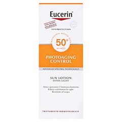 EUCERIN Sun Lotion PhotoAging Control LSF 50+ + gratis Eucerin After Sun 50 ml 150 Milliliter - Rückseite