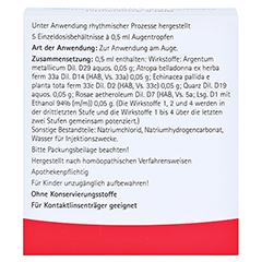 ECHINACEA QUARZ comp.Augentropfen 5x0.5 Milliliter N1 - Rückseite