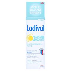 LADIVAL Sonnenschutz Gesicht Fluid matt.LSF 50+ + gratis Ladival mattierendes Fluid LSF 30 (5 ml) 50 Milliliter - Vorderseite