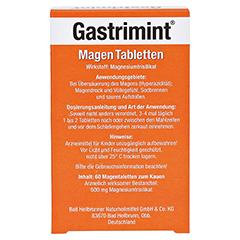 BAD HEILBRUNNER Gastrimint Magen Tabletten 60 Stück - Rückseite
