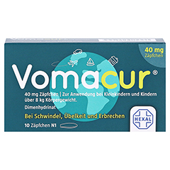 Vomacur 40mg 10 Stück N1 - Vorderseite