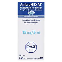 AmbroHEXAL Hustensaft für Kinder 15mg/5ml 250 Milliliter N3 - Vorderseite
