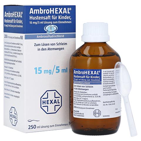 AmbroHEXAL Hustensaft für Kinder 15mg/5ml 250 Milliliter N3