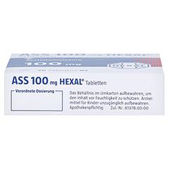 ASS 100mg HEXAL 50 Stück N2 - Unterseite