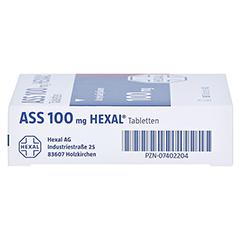 ASS 100mg HEXAL 50 Stück N2 - Rechte Seite