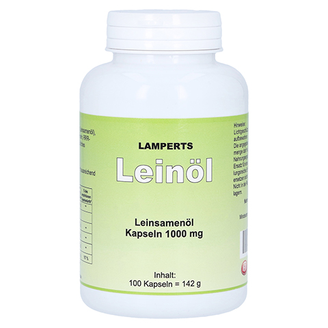 LEINÖL 1000 mg Lamperts Kapseln 100 Stück
